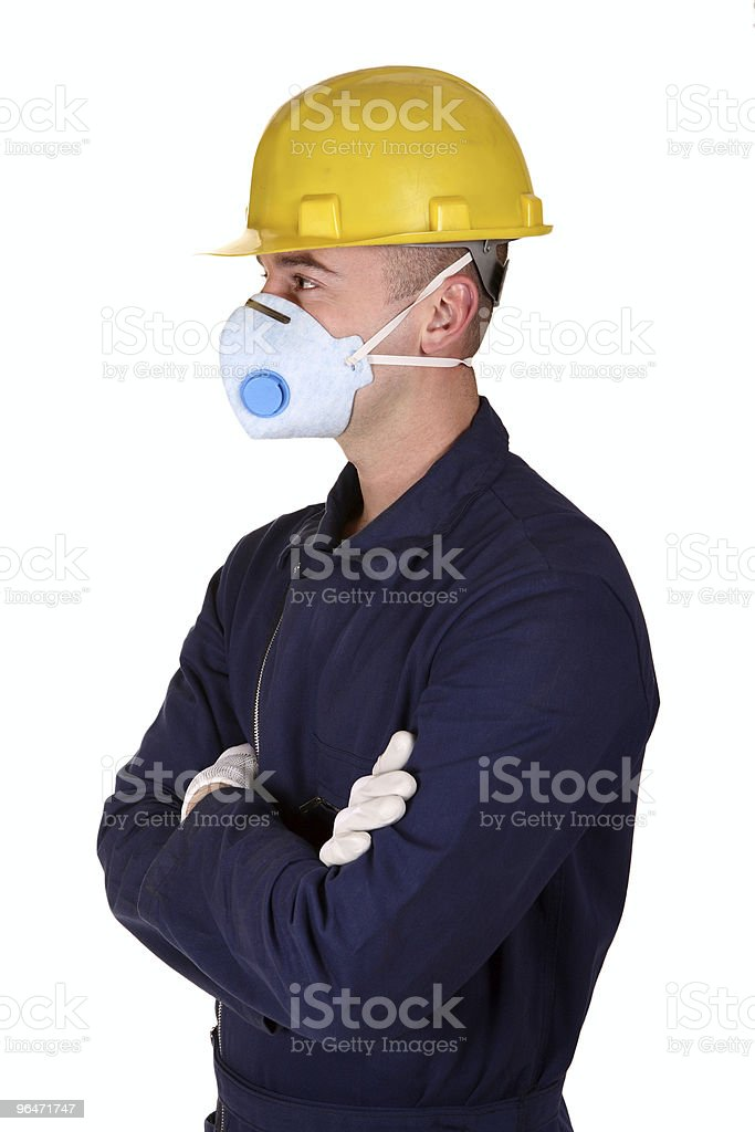 young worker with protecnion clothes royalty-free stock photo