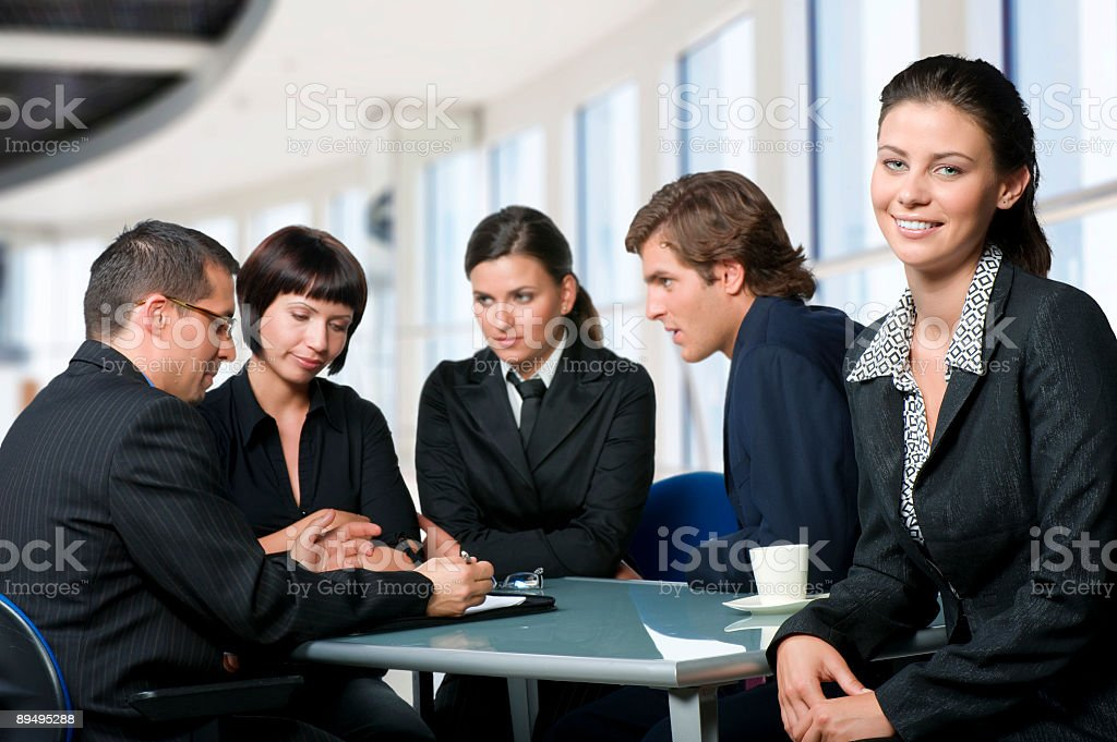 Young workgroup royalty free stockfoto