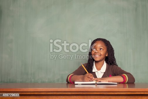 A young schoolgirl is ready to write the next big story.