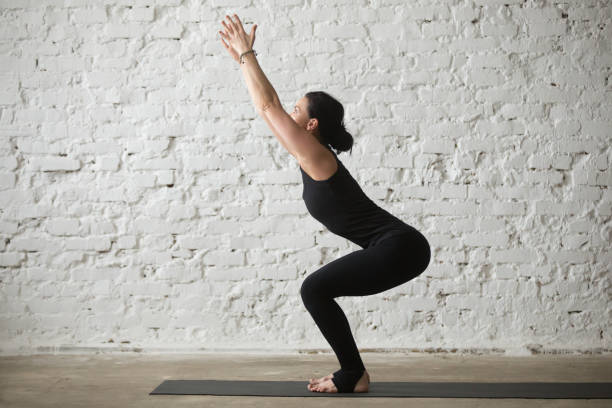 749 Chair Pose Yoga Stock Photos, Pictures & Royalty-Free Images - iStock