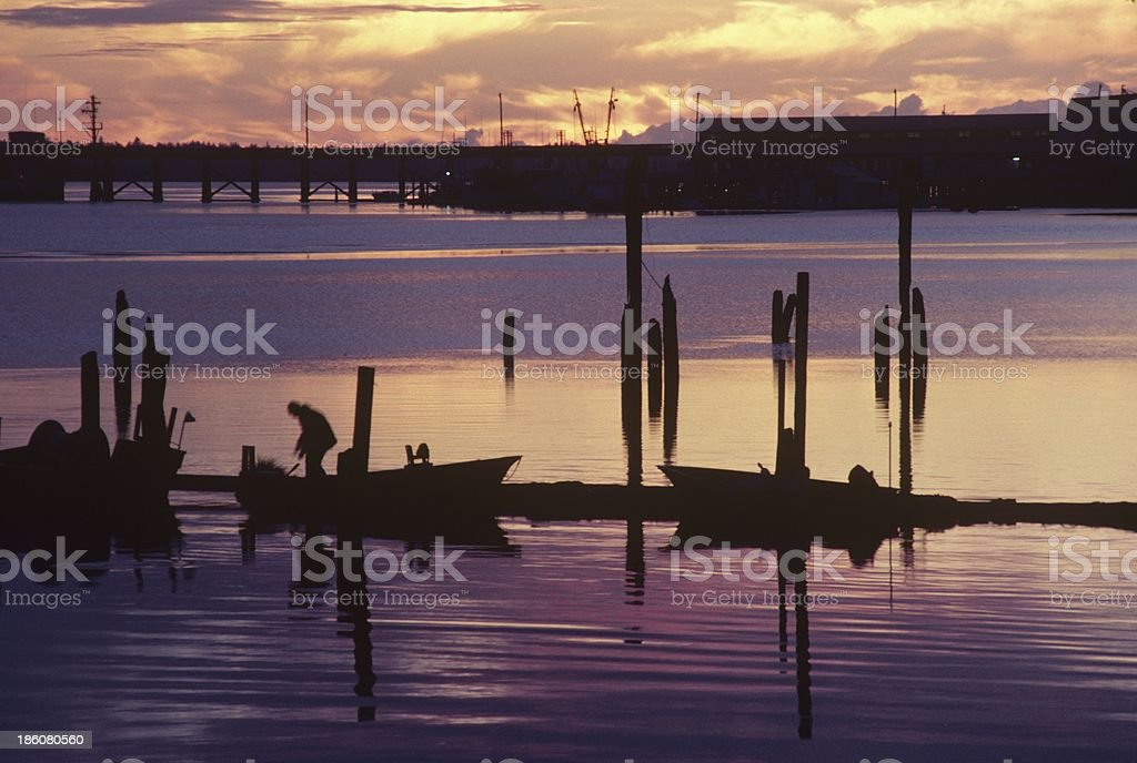 Youngs Bay evening Astoria, Or. 038 royalty-free stock photo