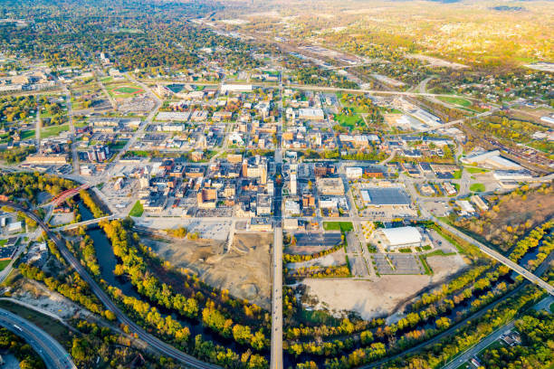 Youngstown, Ohio Aerial View See Youngstown, Ohio from another perspective ohio stock pictures, royalty-free photos & images