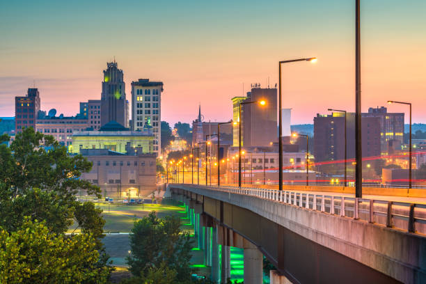 Youngstown, Ohio, USA Town Skyline stock photo
