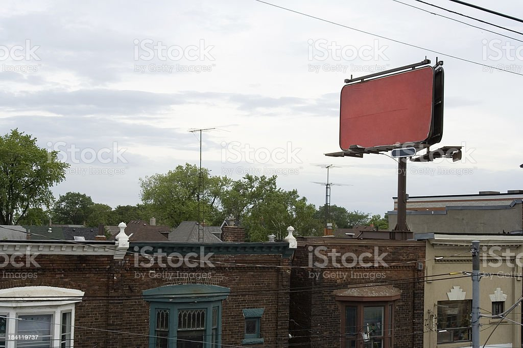 your bilbord on red back royalty-free stock photo