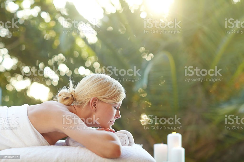 Your body deserves pampering stock photo