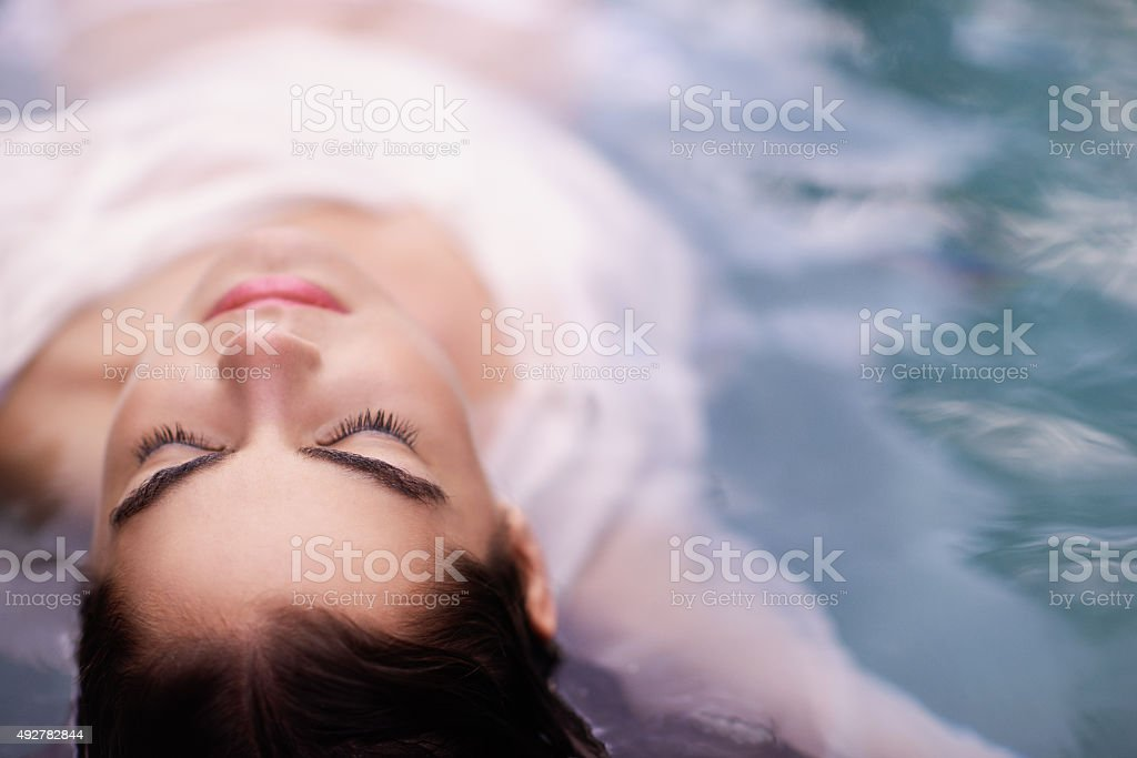 Your body is a temple, keep it pure and clean stock photo