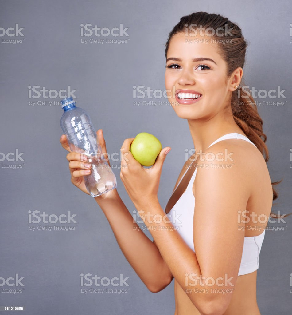 Your body will thank you for making the healthy choice royalty-free stock photo