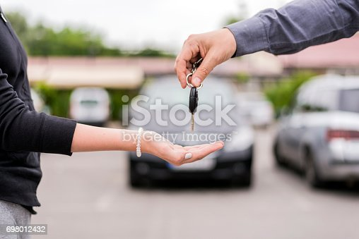 istock Your brand new car awaits 698012432