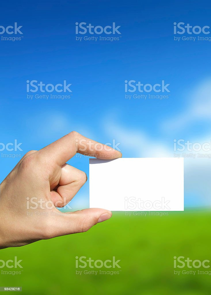 Your Business Card royalty-free stock photo