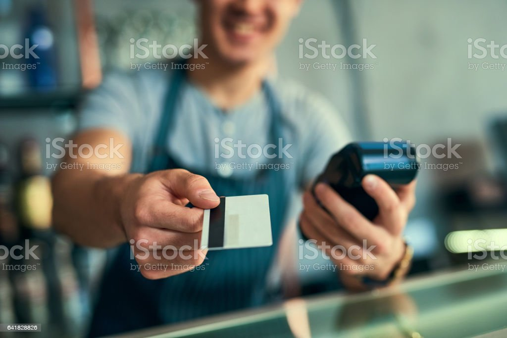 Your card... stock photo