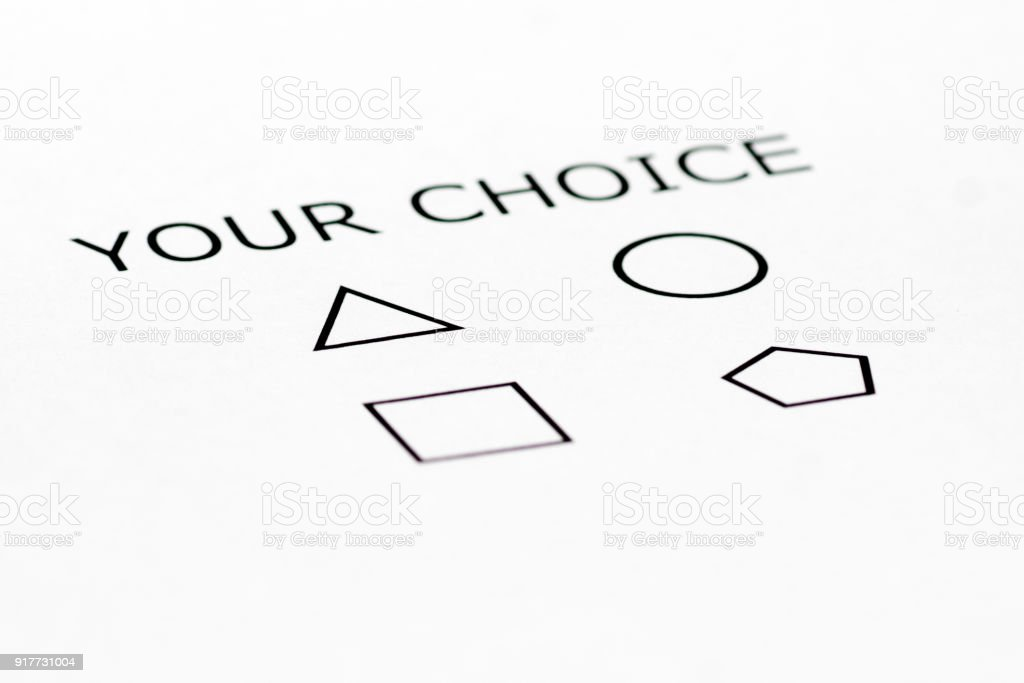 your choice multi form questionnaire stock photo