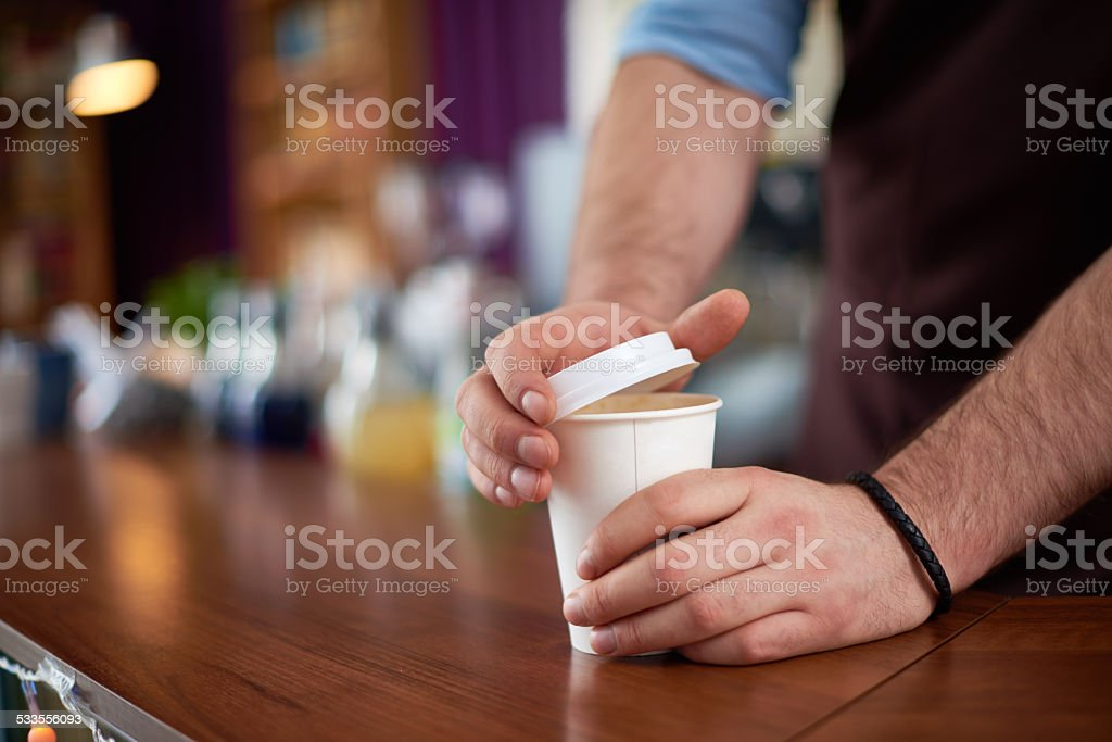 Your coffee please stock photo