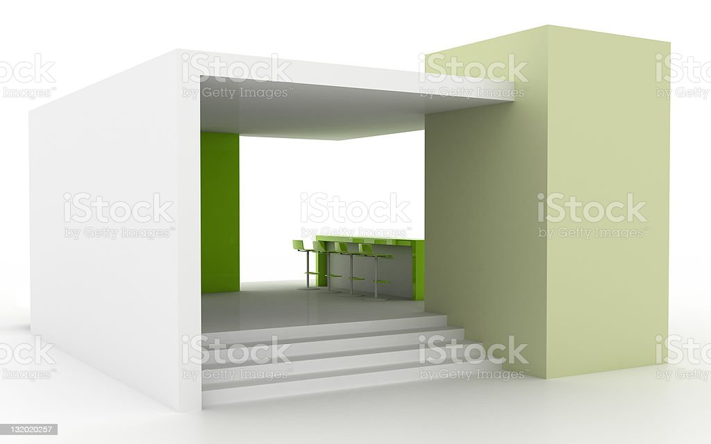 Your company blank exhibition space (isolated on white) stock photo