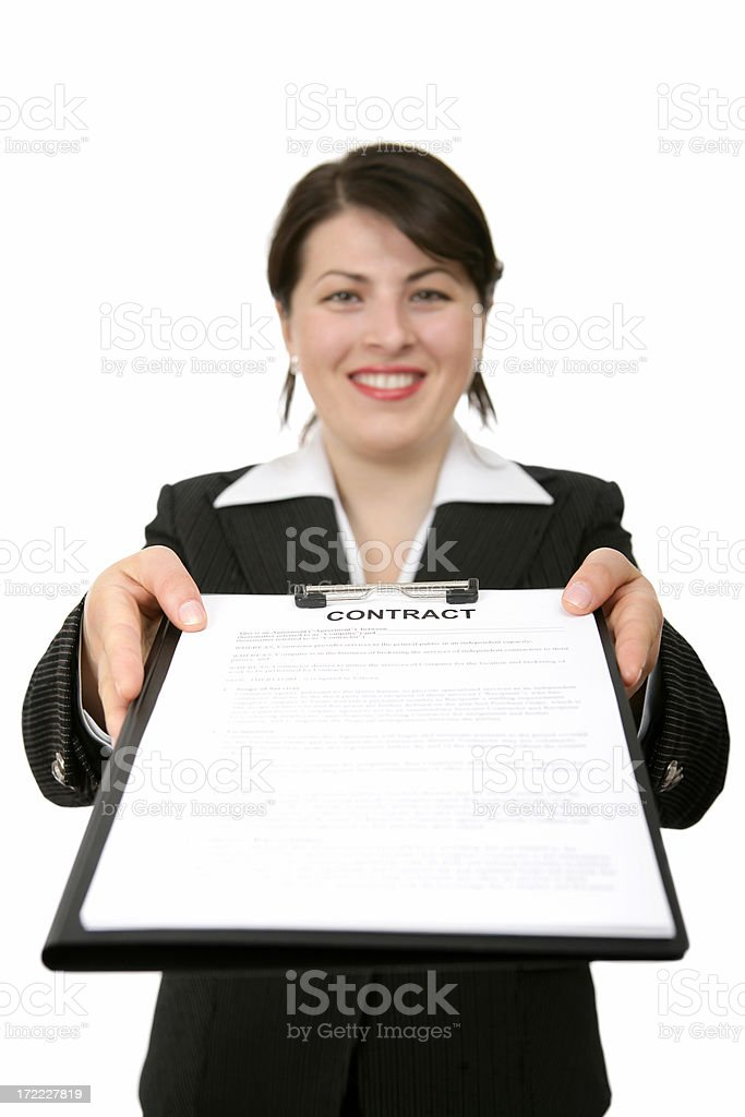 Your Contract royalty-free stock photo