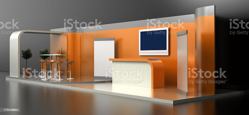 Your Customizable Trade Stand stock photo