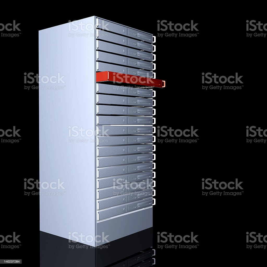 Your dedicated Server royalty-free stock photo