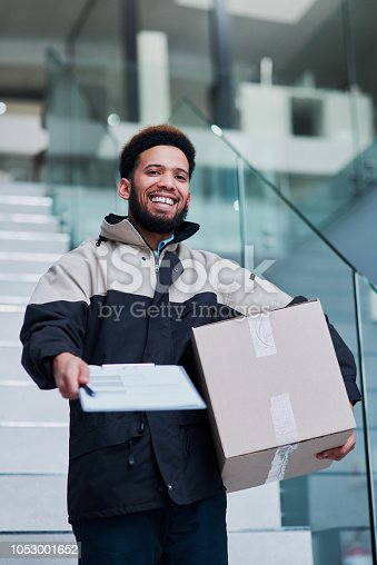 1053001624istockphoto Your delivery is yours, once you sign 1053001652