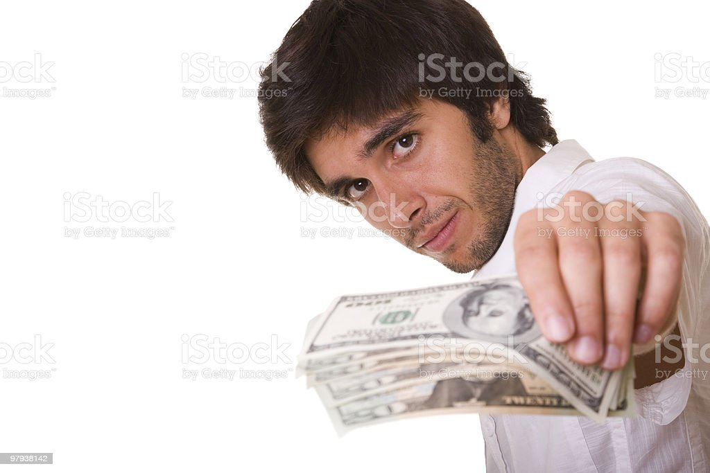 Your dollars royalty-free stock photo