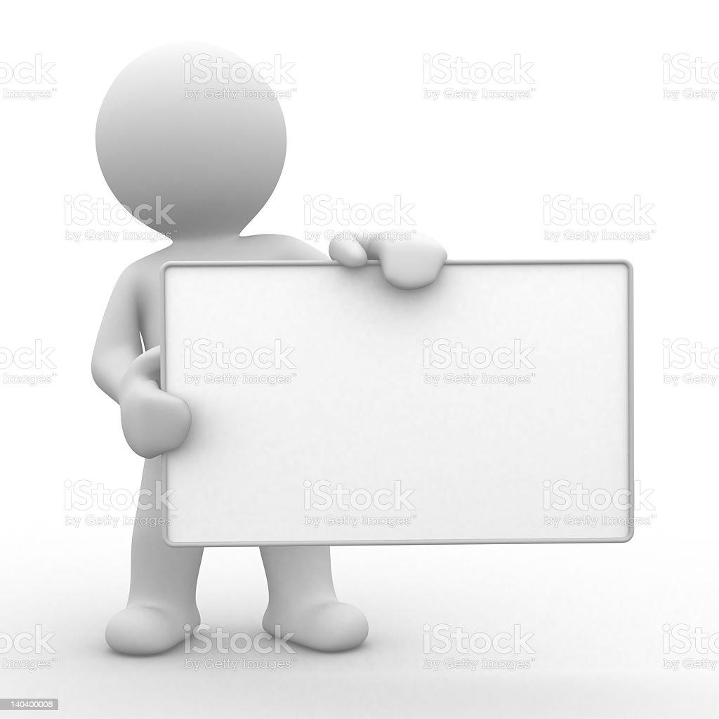 Ihre leeren board Lizenzfreies stock-foto