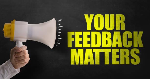 your feedback matters - feedback comunicação imagens e fotografias de stock