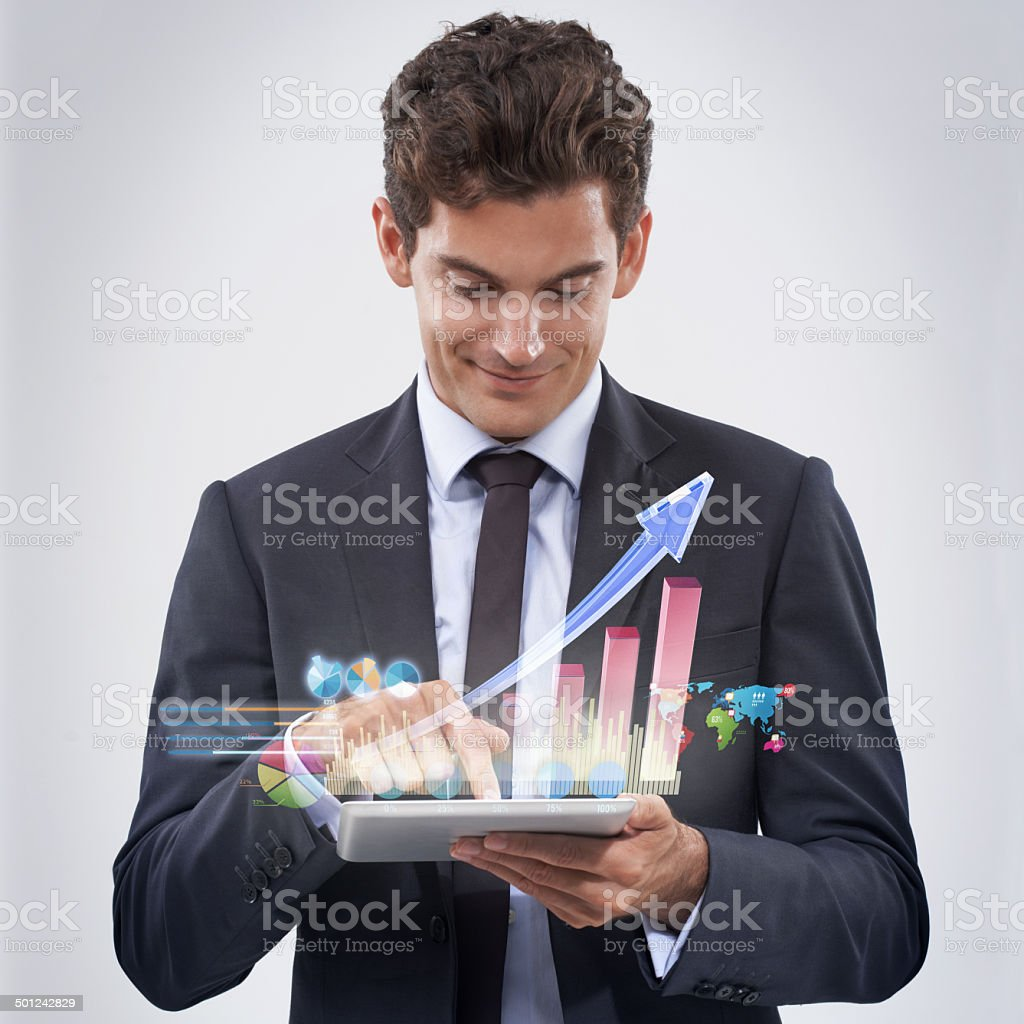 Your financial future is looking good! stock photo
