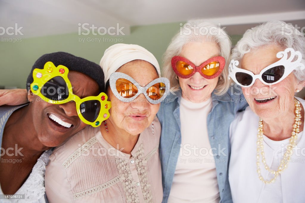 Your grandma can never be this cool! stock photo