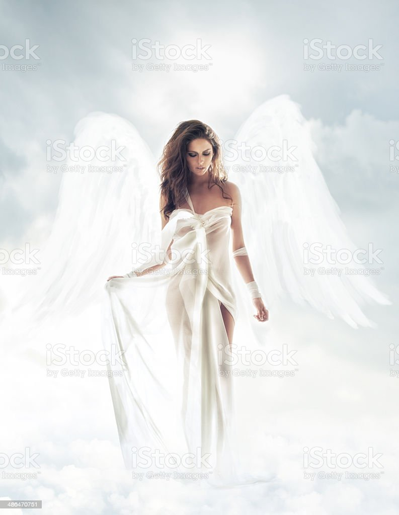 Your guardian angel stock photo