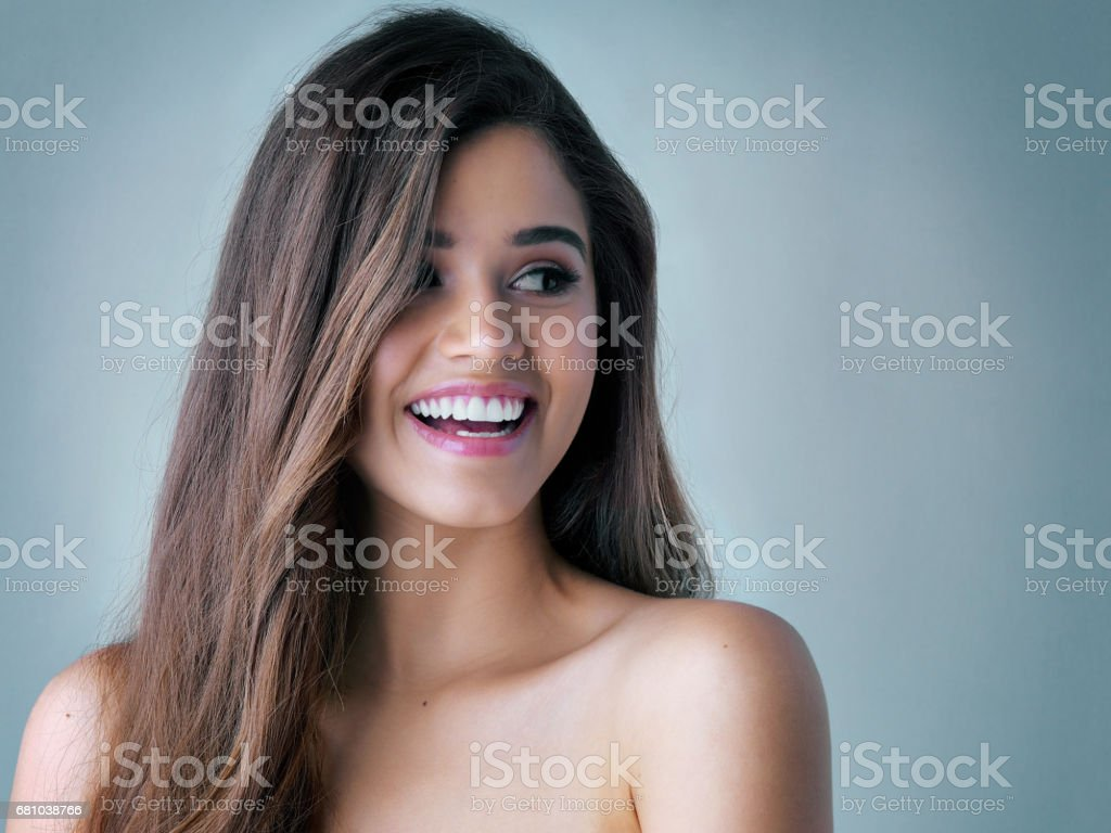Your hair is a statement of style royalty-free stock photo