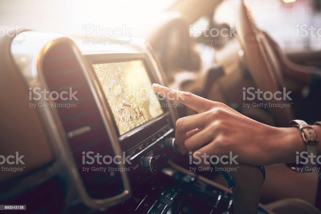 Din praktisk navigering följeslagare bildbanksfoto