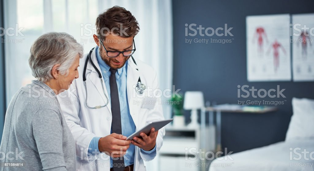 Your health has been improving quite well stock photo