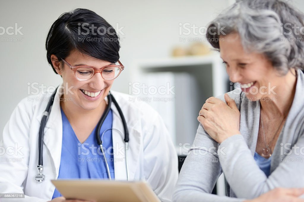 Your health has been improving tremendously stock photo
