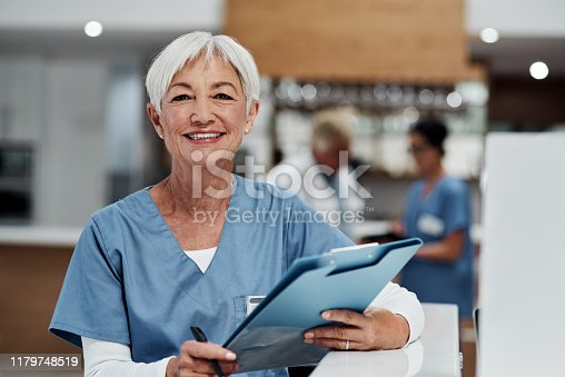 Portrait of a senior medical practitioner working in a hospital