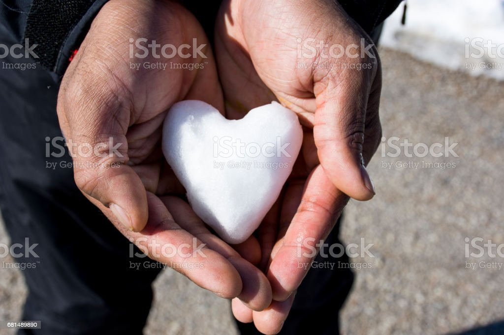 Your heart in my hands royalty-free stock photo