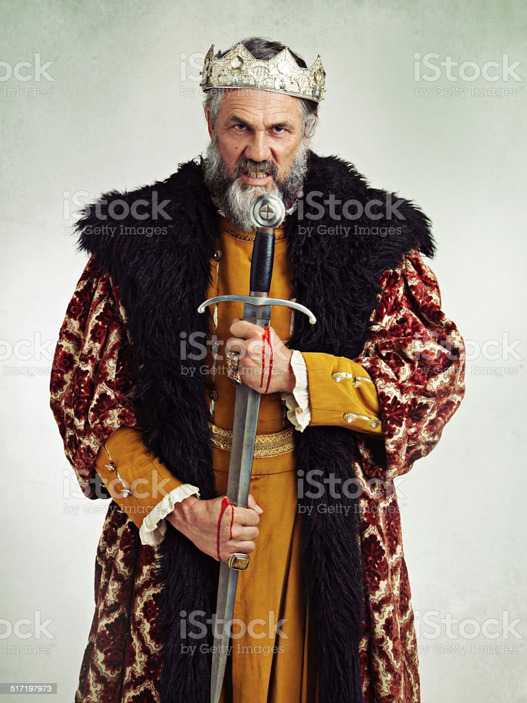 Your Highness looks grumpy today stock photo