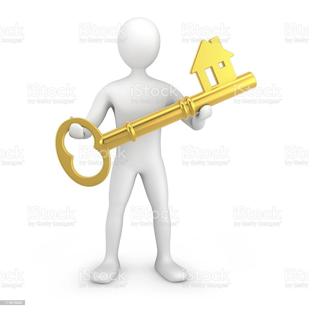 Your home key royalty-free stock photo