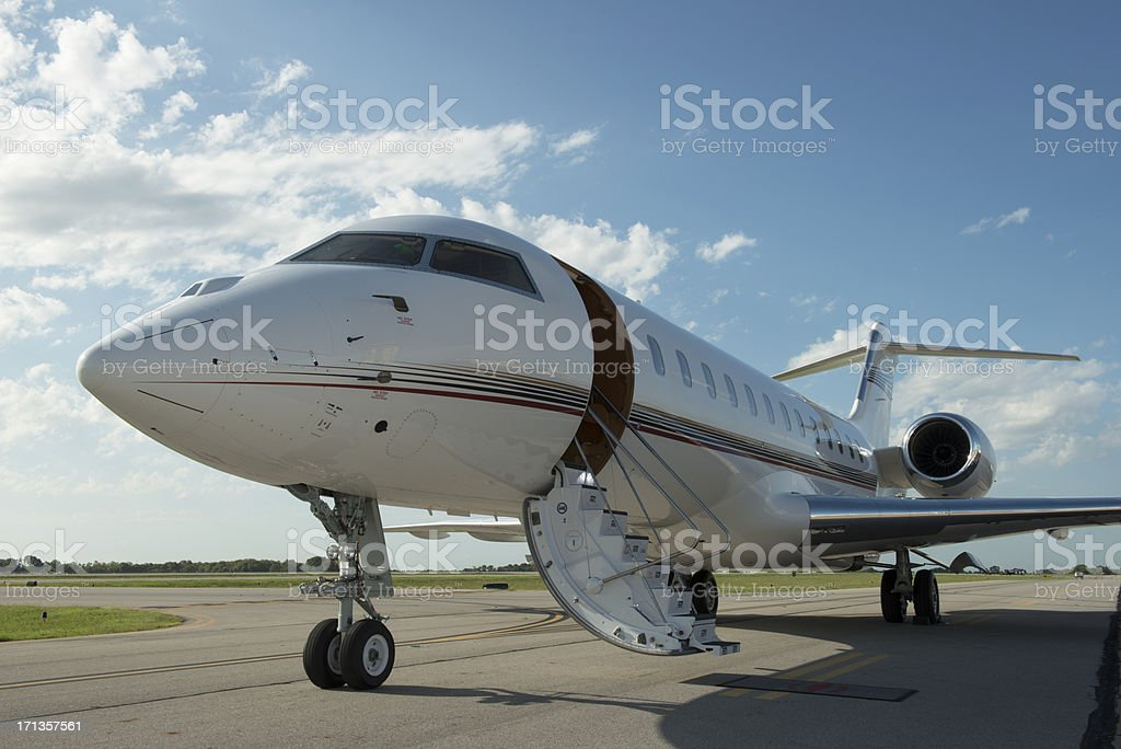 Your Jet Is Waiting royalty-free stock photo