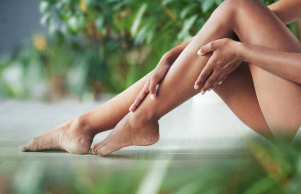 Your legs need some loving too stock photo