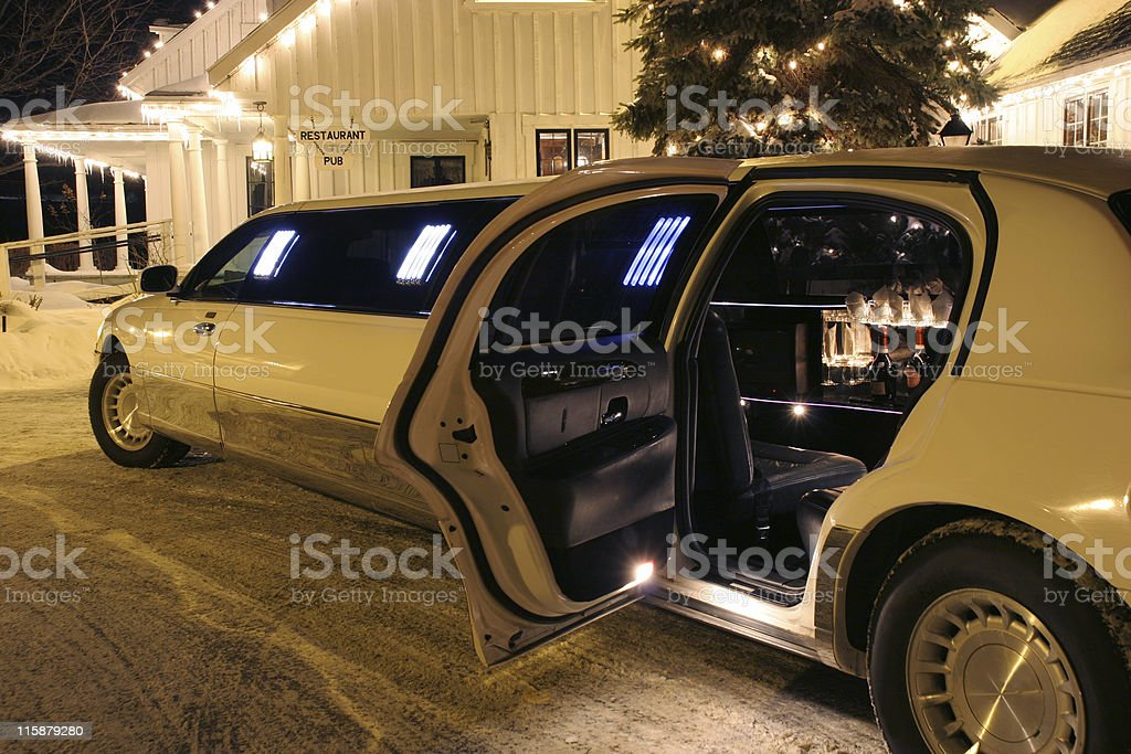 Your limo is waiting royalty-free stock photo