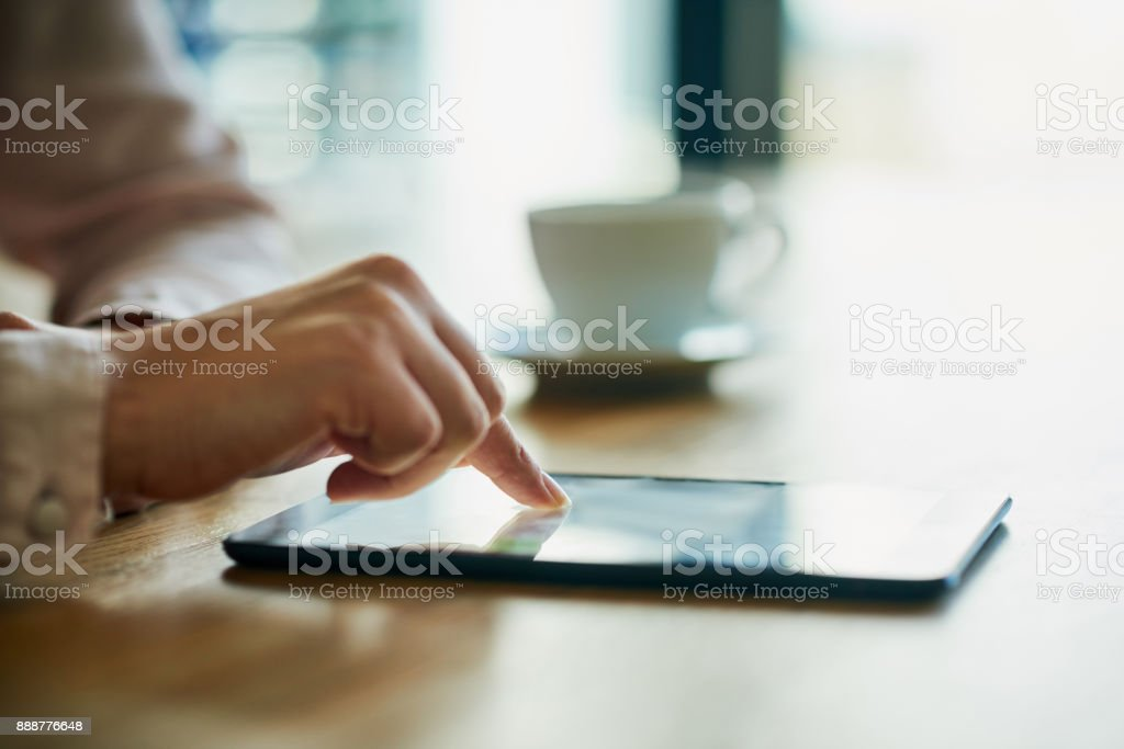 Your link to success is just a tap away stock photo