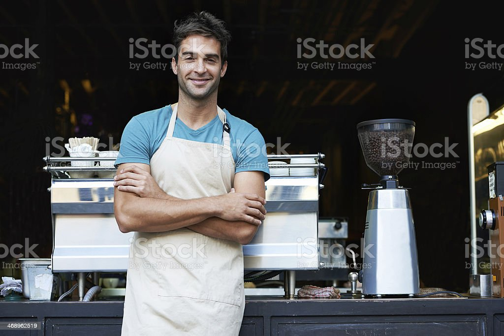 Your local barista stock photo