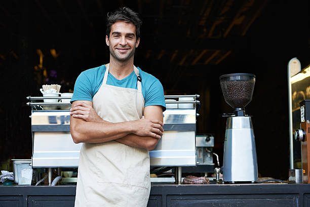 your local barista - barista stock photos and pictures