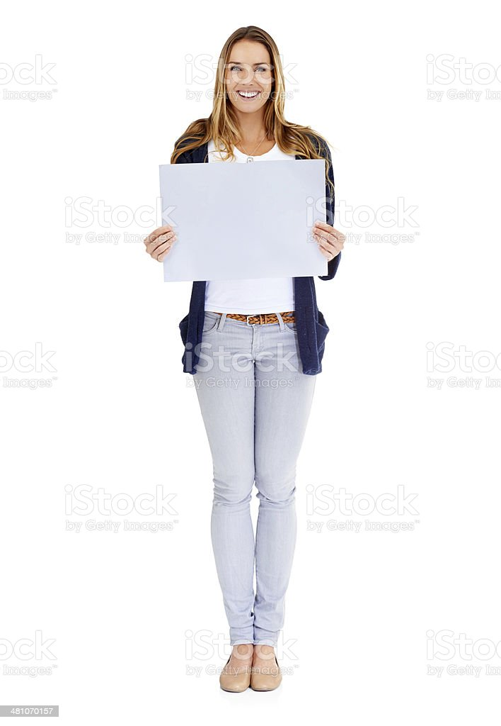 Your message looks perfect here stock photo