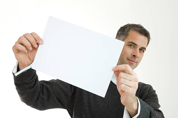 Your Message on paper. stock photo