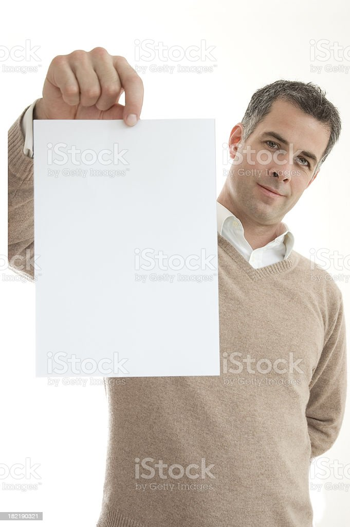 Your Message on paper stock photo
