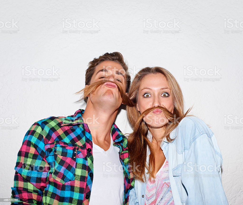 Your moustache looks lovely... stock photo