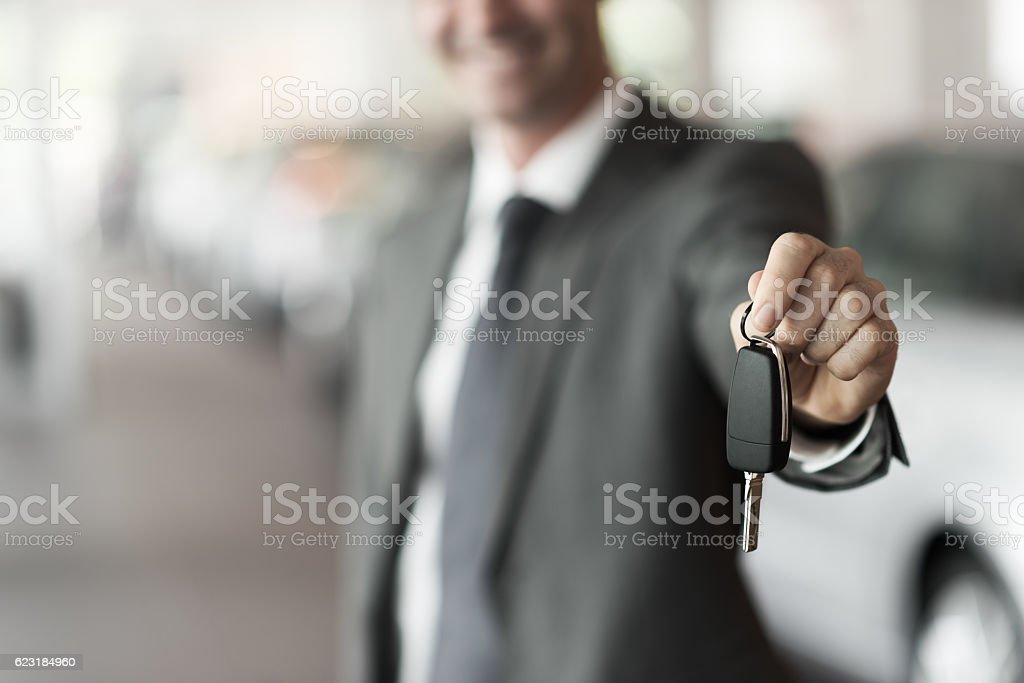 Your new car keys stock photo