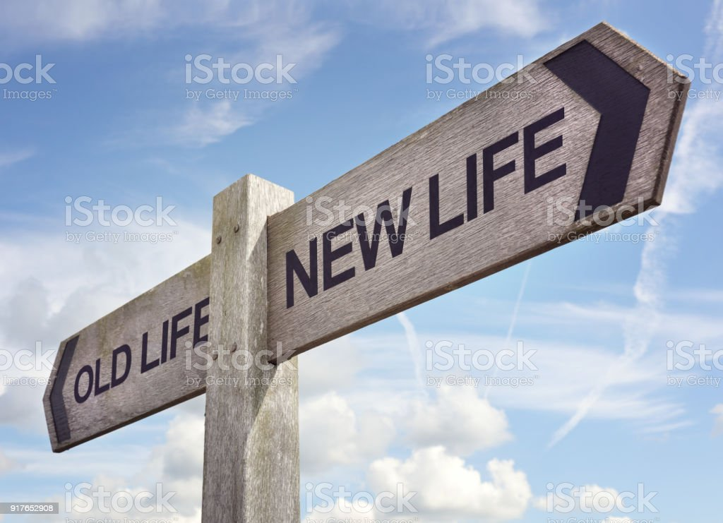 Your new life stock photo