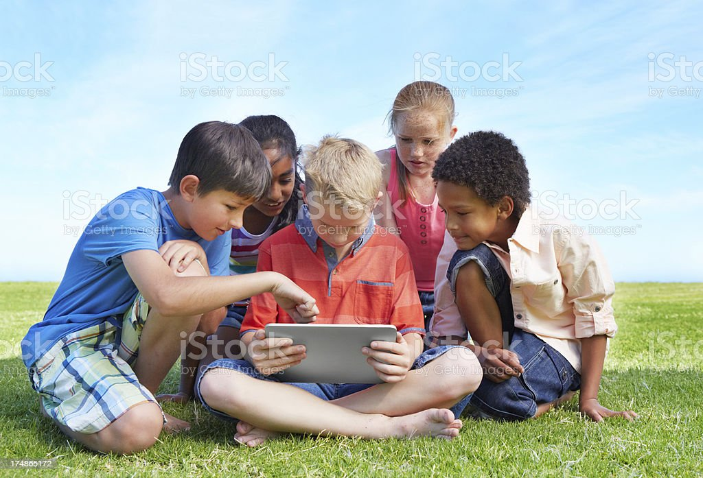 Your new tablet is so cool! royalty-free stock photo