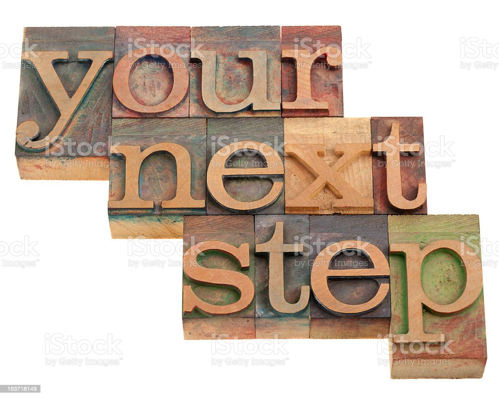 your next step royalty-free stock photo