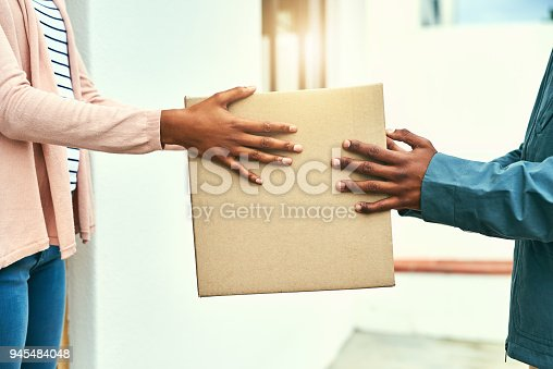 1053001624istockphoto Your order has arrived 945484048